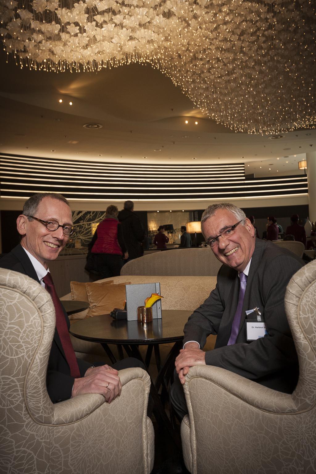BFH-Richter Michael Wendt (li.) und StB Hartmut Schwab auf der Münchener Steuerfachtagung 2013.