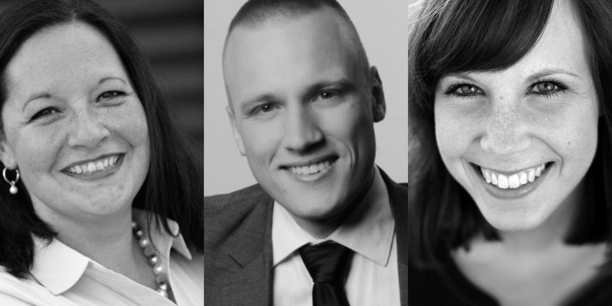 Stephanie Dargel, Melchior Bläse, Karina Barg (Fotos: privat)