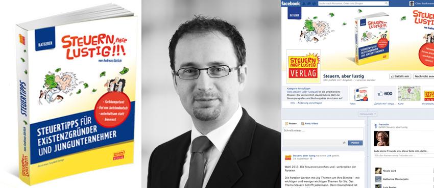 StB Andreas Görlich und sein Buch-Internet-Vortrags-Projekt: Steuern, aber lustig.
