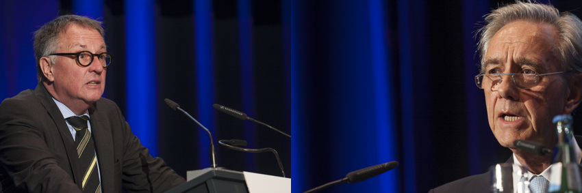 Zwei Präsidenten: Horst Koschorek (links, Bundesverband der freien Berufe) und Horst Vinken (Bundessteuerberaterkammer)