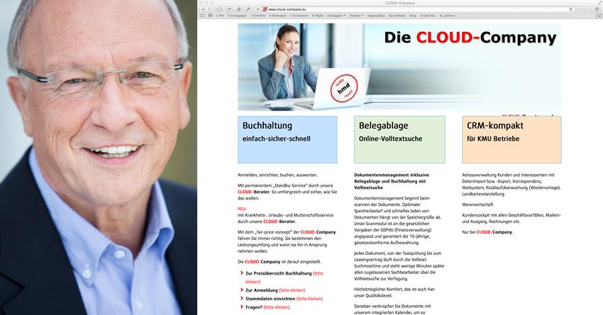 Martin Moser (Foto: privat), Screenshot cloud-company.eu