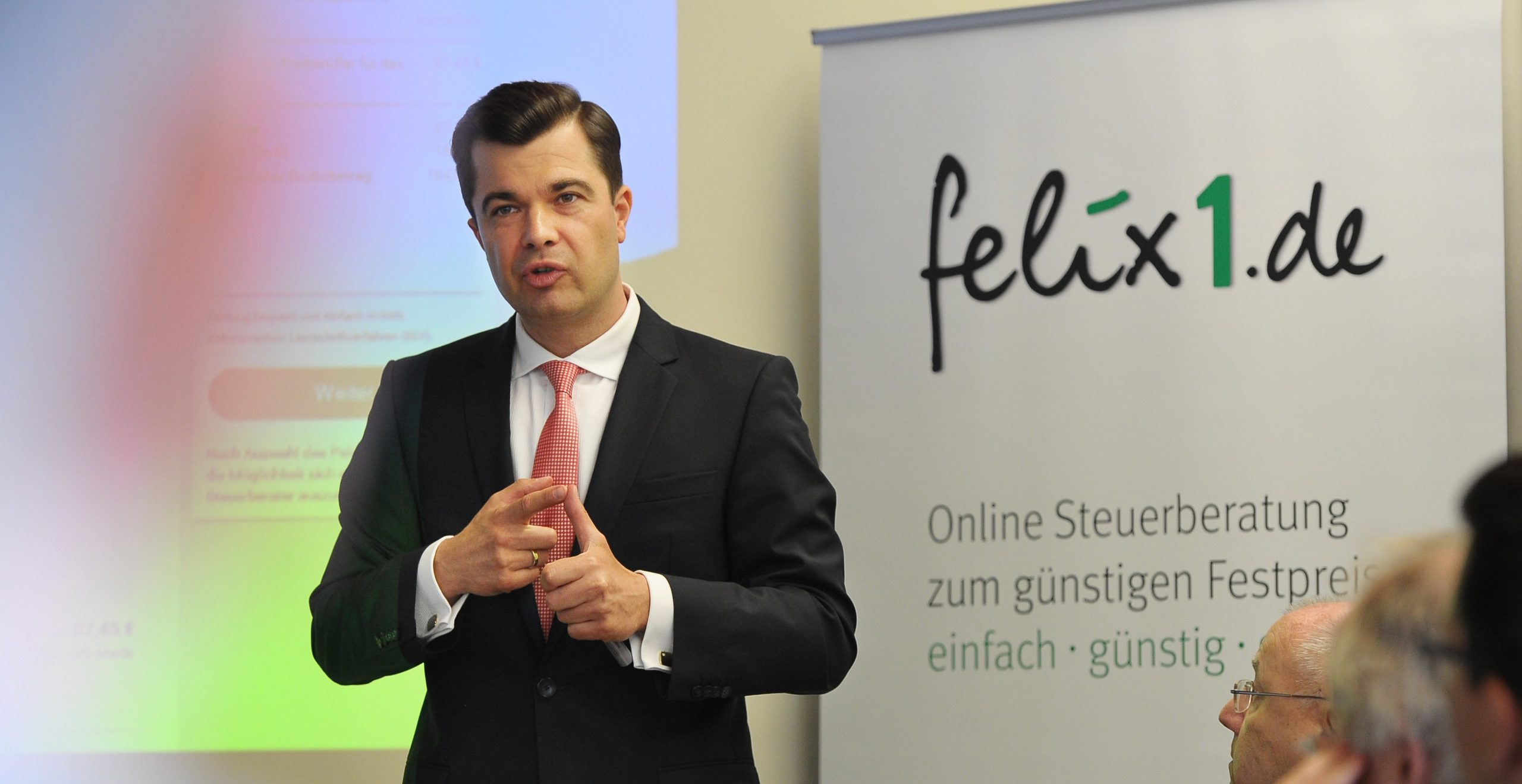 ETL-Vorstand Marc Müller bei der Vorstellung von felix1.de in Frankfurt (Foto: ETL)