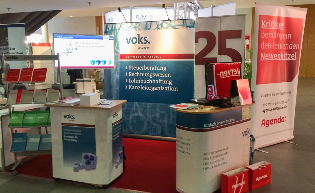 Stand von voks-Software auf dem Steuerberatertag in München (Okt. 2014).