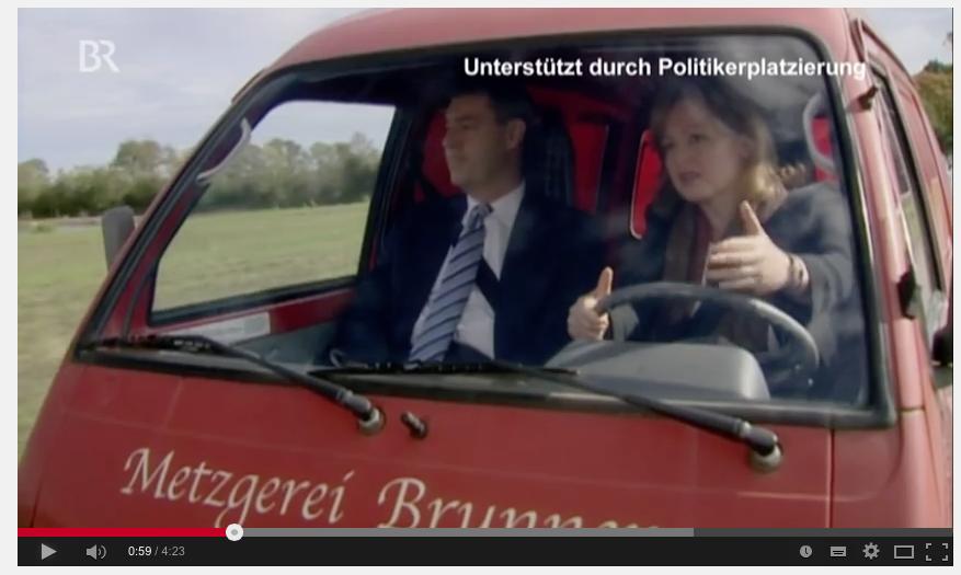 """Markus Söder (CSU) in der BR-Seifenoper """"Dahoam is Dahoam"""""""