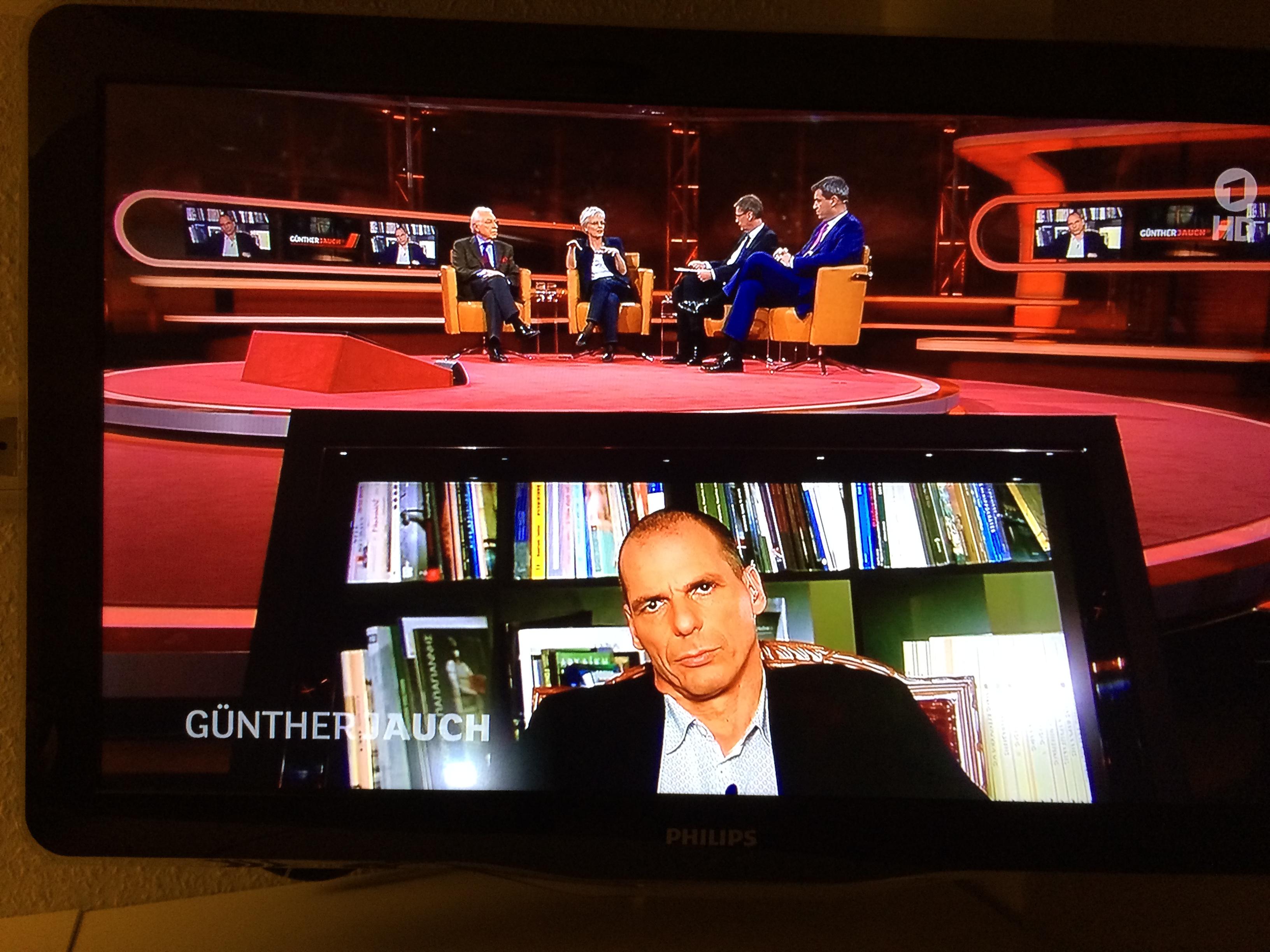Yanis Varoufakis bei Günther Jauch