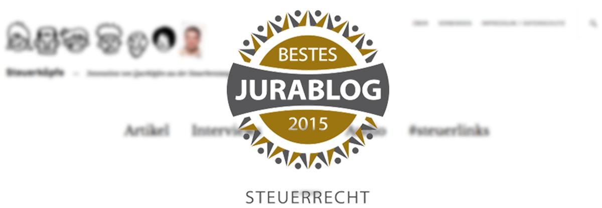 steuerkoepfe.de: Bestes Jurablog 2015 Steuerrecht
