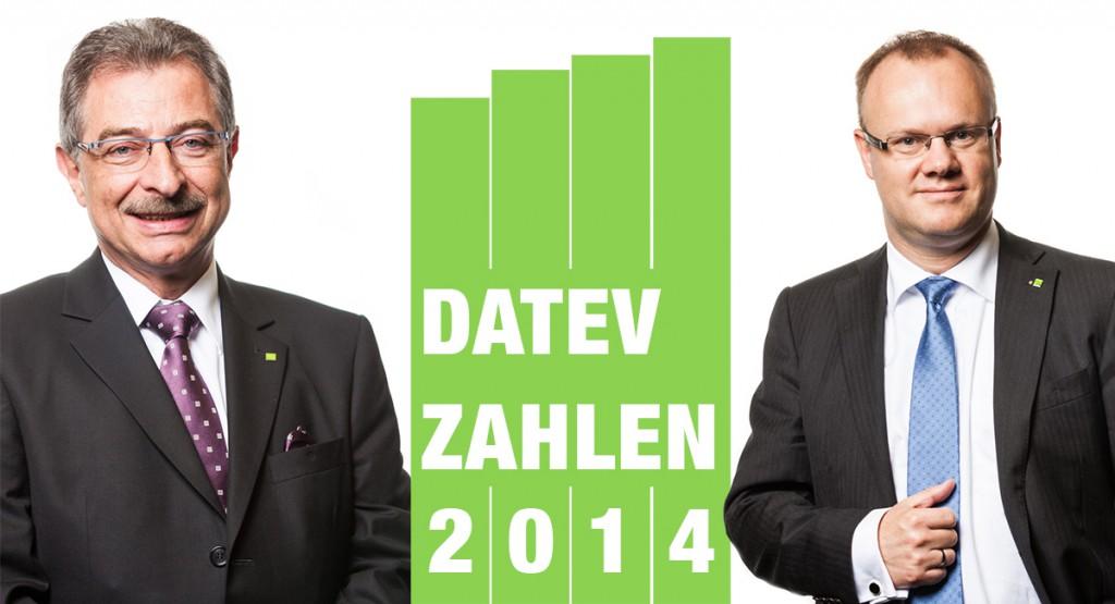 Dieter Kempf und Robert Mayr geben die vorläufigen Datev Geschäftszahlen 2014 bekannt