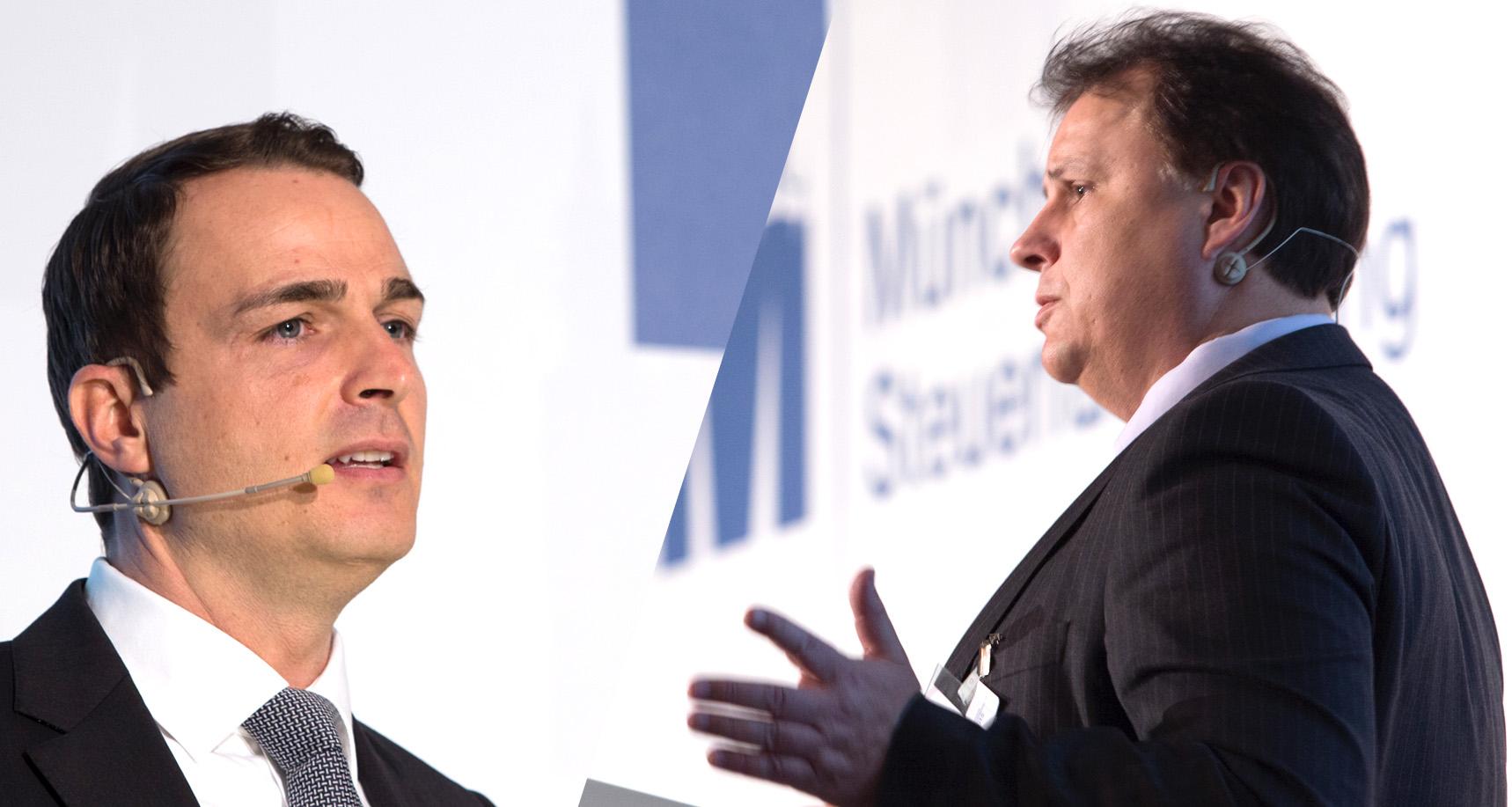 RA Dr. Matthias Schell (Milbank) und Dirk Kohn (Finanzverwaltung Schleswig-Holstein) auf der 54. Münchner Steuerfachtagung
