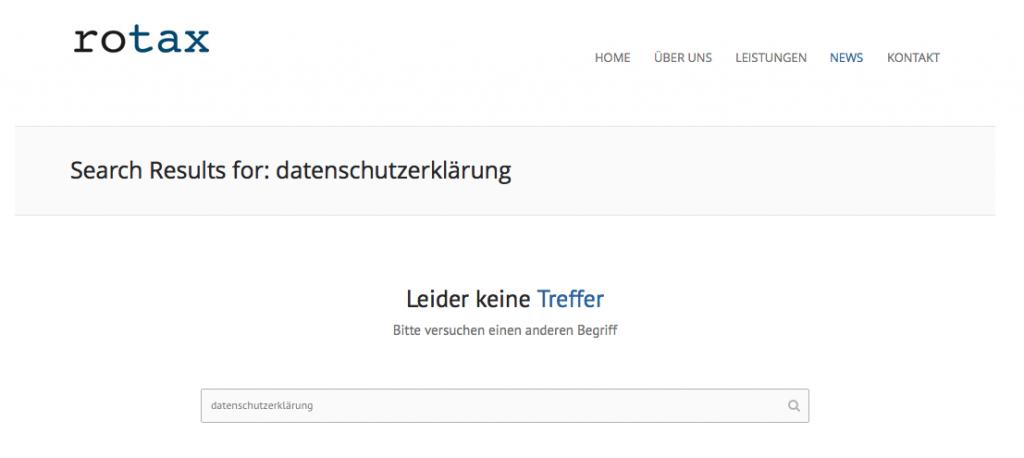 Screenshot Rotax Steuerberatungsgesellschaft mbH Website am 17.4.2015