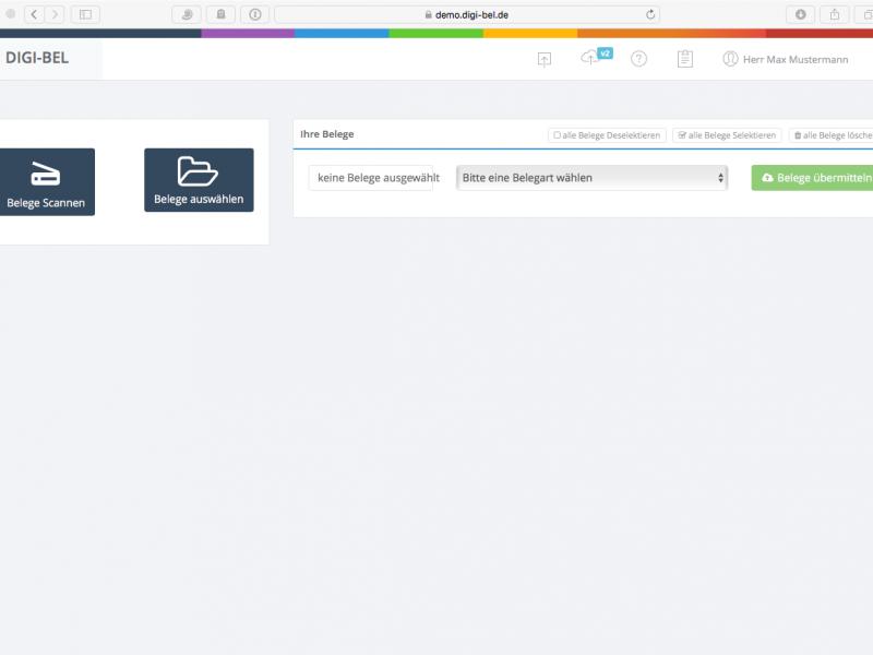Erweiterter Beleg-Upload im digi-bel-Webportal