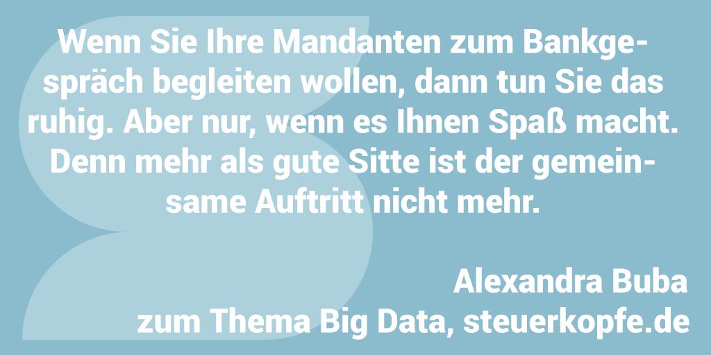 Alexandra Buba über das Kreditgespräch in Zeiten von Big Data