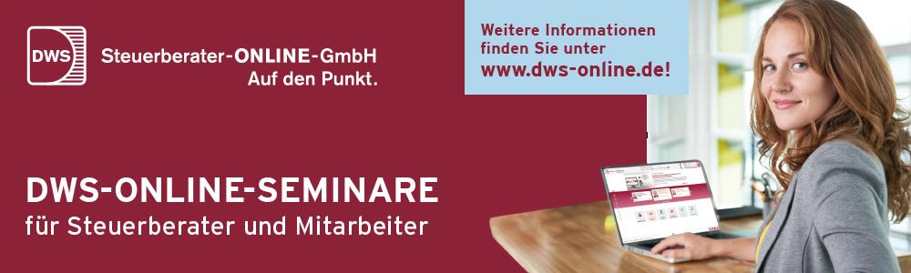 DWS-ONLINE-SEMINARE für Steuerberater und Mitarbeiter
