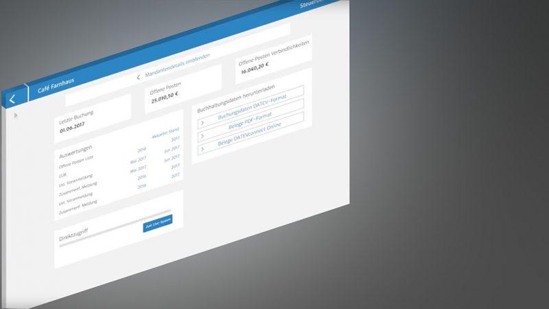 Steuerberater-Cockpit, lexoffice, Buchhaltungssoftware, Rechnungsprogramm, online Buchhaltung
