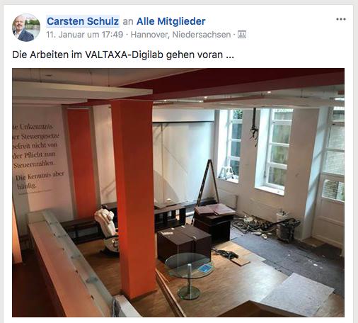 Noch Baustelle, bald Valtaxa-Digilab in den Räumen der Kanzlei HSP in Hannover