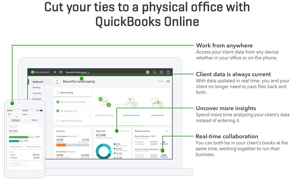 Quickbooks Dashboard Screenshot