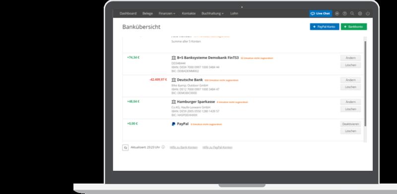 Lexoffice: Paypal-Integration