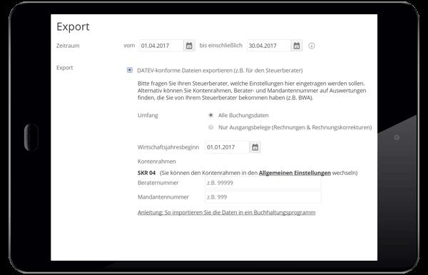 Lexoffice: Datev-Export