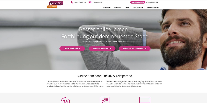 e-wise – Online-Seminare: Effektiv & zeitsparend