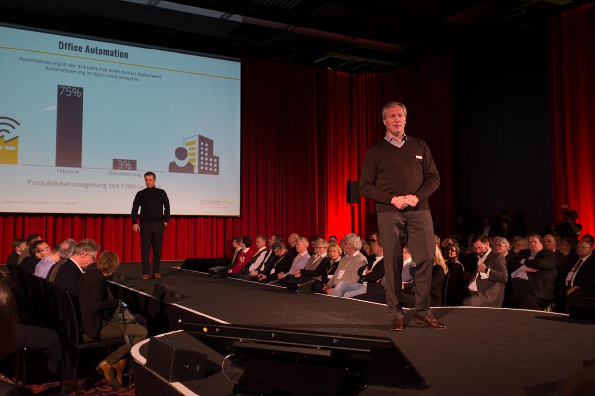Dr. Jörg Haas (rechts) auf dem Scopevisio Cloudunternehmertag 2019 in Bonn