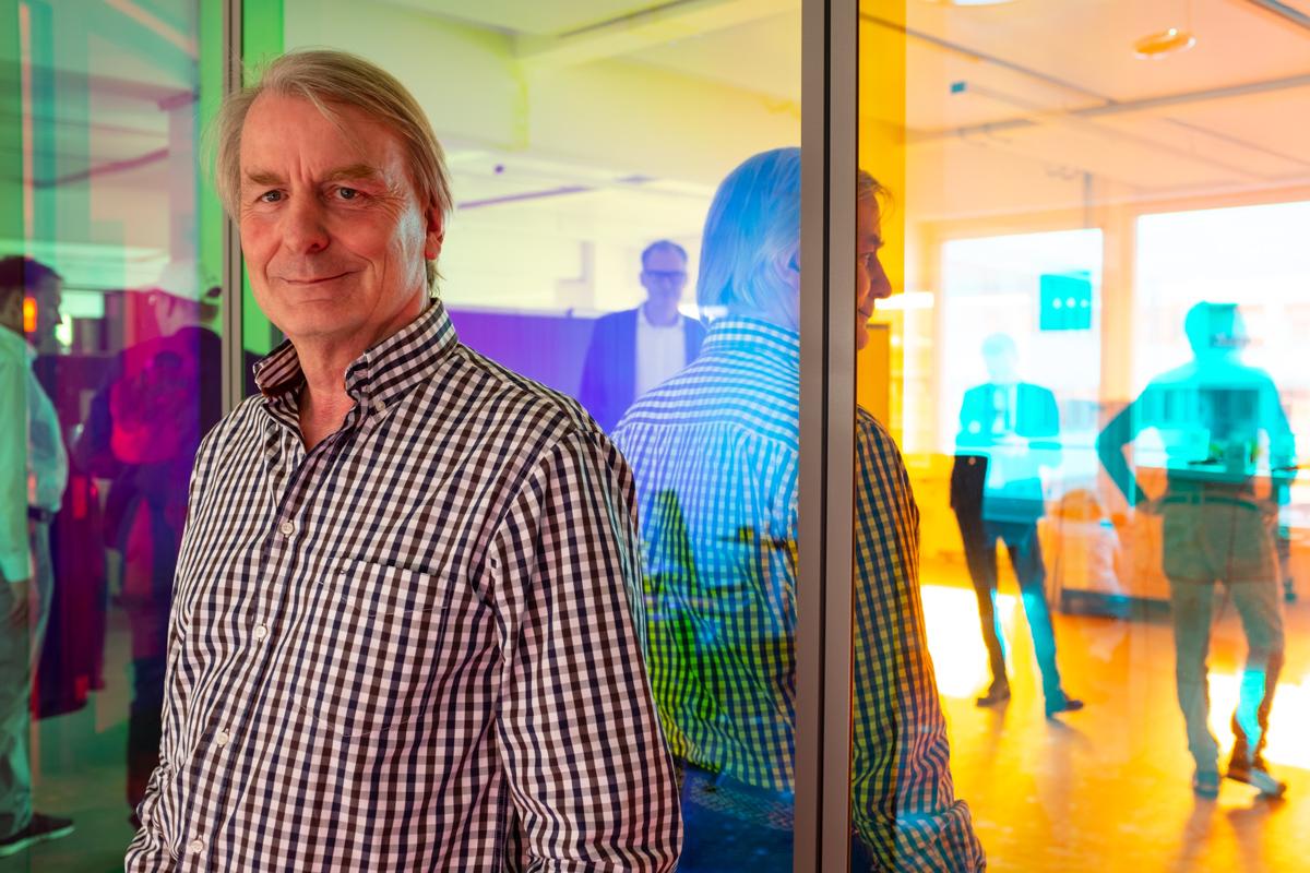 Günter Golz bei der Podcast-Aufzeichnung im Datev Lab in Nürnberg