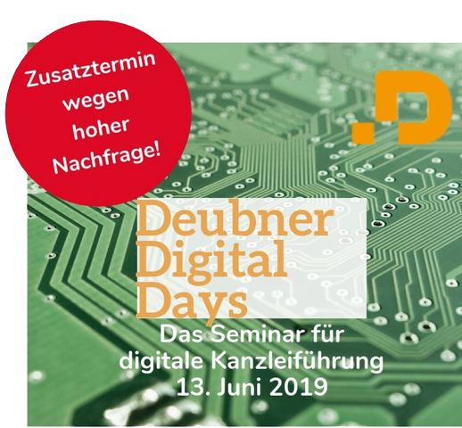 Deubner Digital Days am 13.6.2019 in Köln