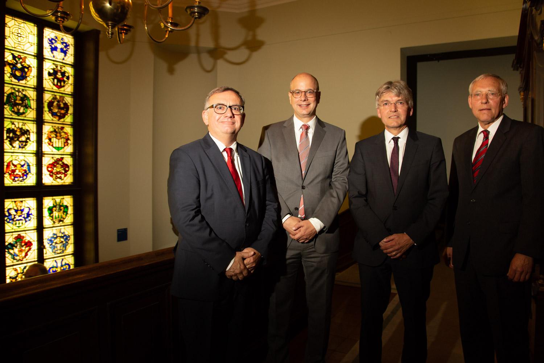 von links: Prof. Dr. Franz Jürgen Marx, Prof. Dr. Christoph Löffler, Prof. Dr. Christoph Spengel, RA Dr. Wolfgang Richter