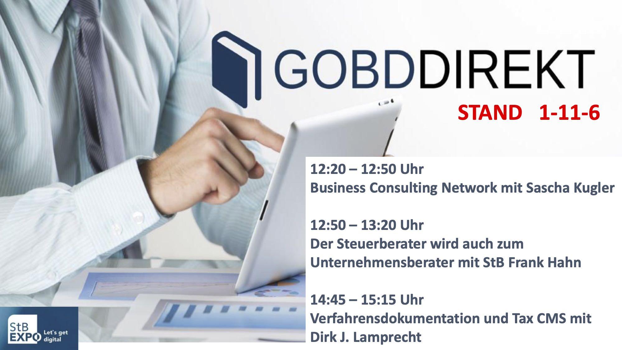 Vorträge auf der virtuellen StB-Expo